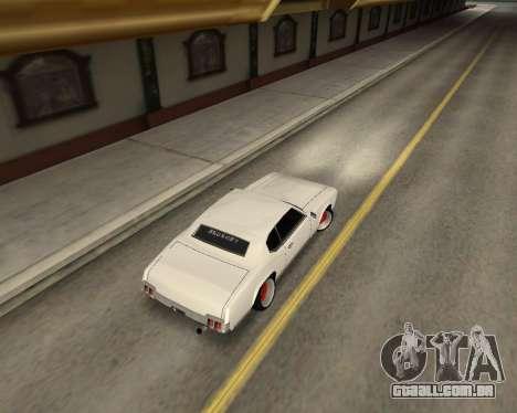 Sabre Boso para GTA San Andreas traseira esquerda vista