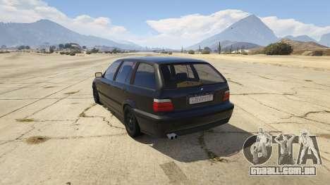 GTA 5 BMW M3 E36 Touring traseira vista lateral esquerda