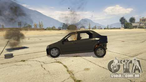 GTA 5 2008 Dacia Logan v2.0 FINAL frente vista lateral direita