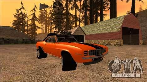 Chevrolet Camaro SS Rusty Rebel para GTA San Andreas vista interior