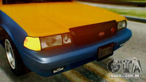 Vapid Taxi para GTA San Andreas vista interior