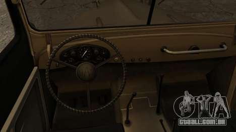 GAZ-69UM FIV para GTA San Andreas traseira esquerda vista