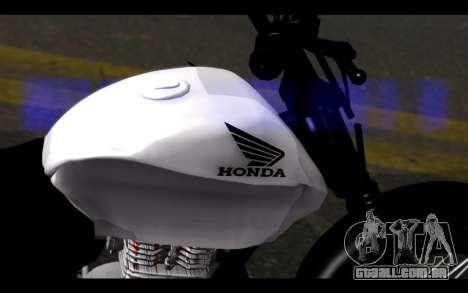 Honda CG Titan 150 Stunt Imitacion para GTA San Andreas vista direita