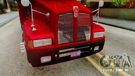Kenworth T600 Aerocab 72 Sleeper para GTA San Andreas vista inferior