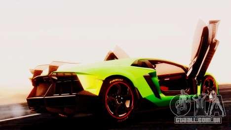 Lamborghini Aventador Mansory para GTA San Andreas esquerda vista