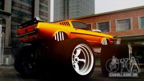 Ford Mustang 1966 Chrome Edition v2 Monster para GTA San Andreas vista direita