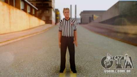 WWE Arbitro para GTA San Andreas segunda tela
