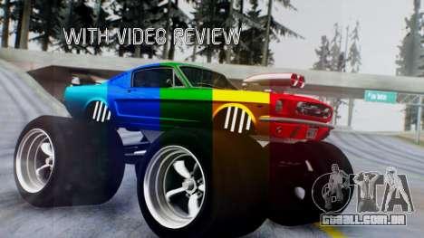 Ford Mustang 1966 Chrome Edition v2 Monster para GTA San Andreas