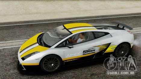 Lamborghini Gallardo Superleggera para GTA San Andreas vista inferior