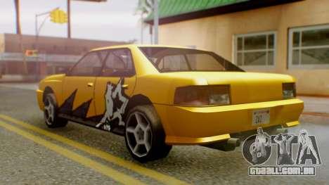 Sultan Винил из need For Speed ProStreet para GTA San Andreas esquerda vista