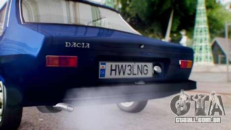 Dacia 1300 v2 para GTA San Andreas vista traseira