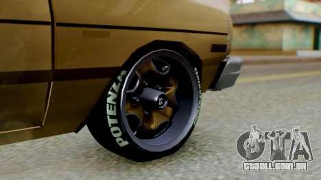 Dodge Dart 1975 Estilo Drag para GTA San Andreas traseira esquerda vista