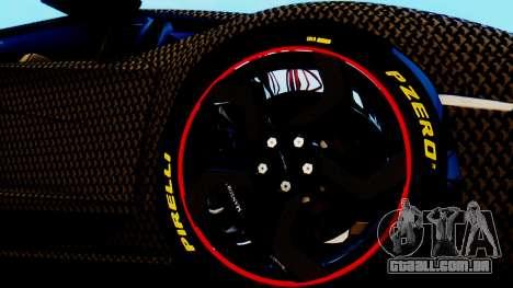 Lamborghini Aventador Mansory Carbonado para GTA San Andreas traseira esquerda vista