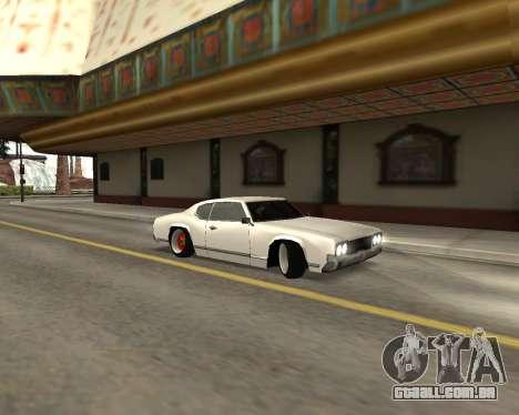 Sabre Boso para GTA San Andreas esquerda vista
