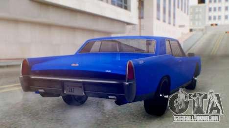 GTA 5 Vapid Chino Tunable IVF para GTA San Andreas esquerda vista
