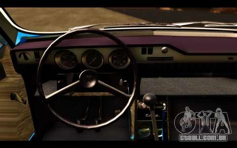 Dacia 1300 1969 para GTA San Andreas traseira esquerda vista