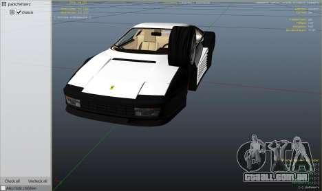 GTA 5 1984 Ferrari Testarossa 1.9 vista lateral direita