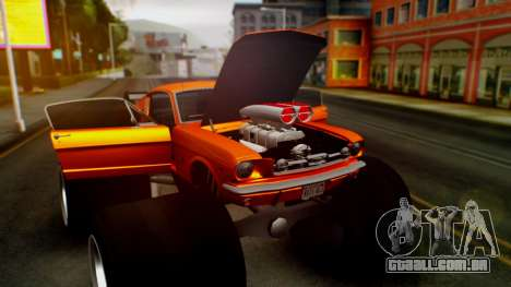 Ford Mustang 1966 Chrome Edition v2 Monster para GTA San Andreas vista superior
