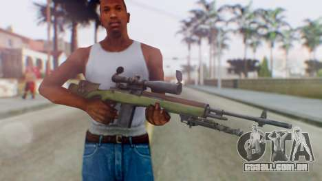 ARMA2 M14 Dmr Sniper para GTA San Andreas terceira tela