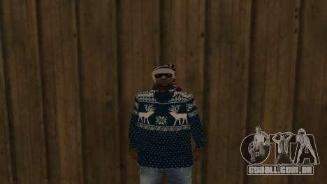 Ballas New Year Skin para GTA San Andreas segunda tela