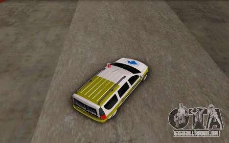 Dacia Logan Emdad Khodro para GTA San Andreas traseira esquerda vista