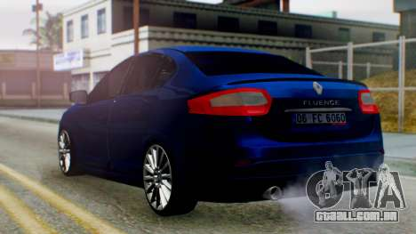 Renault Fluence King para GTA San Andreas esquerda vista