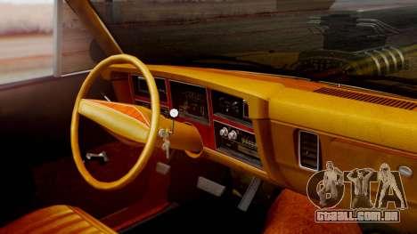 Dodge Dart 1975 Estilo Drag para GTA San Andreas vista direita