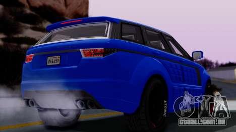 GTA 5 Gallivanter Baller LE Arm para GTA San Andreas traseira esquerda vista