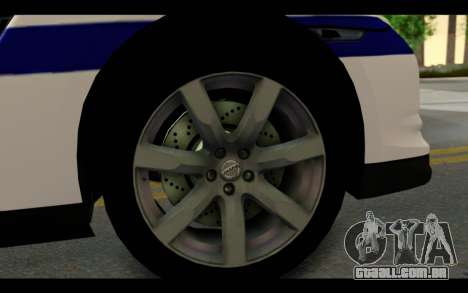Nissan GT-R Policija para GTA San Andreas vista traseira