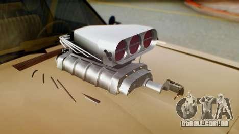 Dodge Dart 1975 Estilo Drag para GTA San Andreas vista traseira