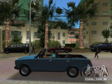 VAZ 21047 Conversível para GTA Vice City vista traseira