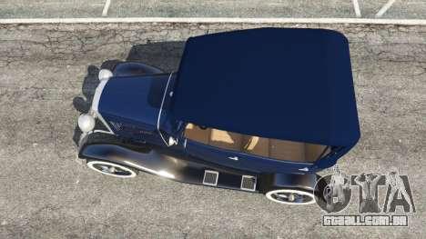 GTA 5 Ford Model T 1927 [Tin Lizzie] voltar vista