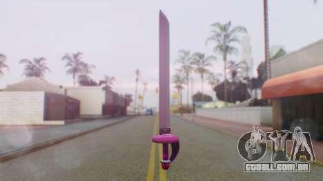 Rose Sword from Steven Universe para GTA San Andreas segunda tela