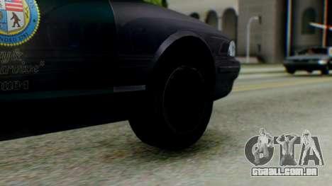 GTA 5 Vapid Stanier II Police IVF para GTA San Andreas traseira esquerda vista