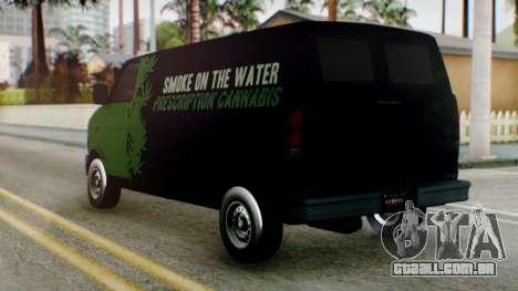 GTA 5 Brute Pony Smoke on the Water para GTA San Andreas esquerda vista