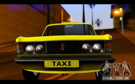 Zastava 125PZ Taxi para GTA San Andreas vista traseira