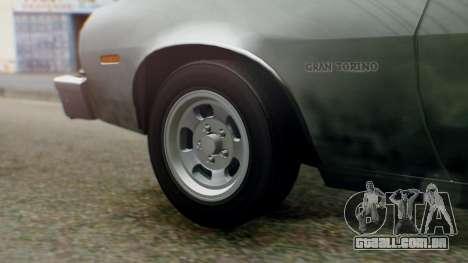 Ford Gran Torino 1974 IVF para GTA San Andreas vista traseira