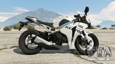 GTA 5 Honda CBR1000RR [Repsol White] vista lateral esquerda