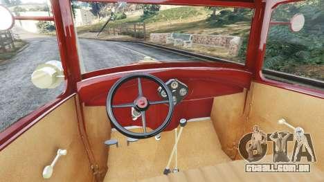GTA 5 Ford Model A [mafia style] traseira direita vista lateral