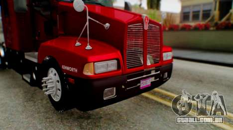 Kenworth T600 Aerocab 72 Sleeper para as rodas de GTA San Andreas