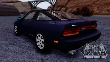 Nissan 240SX SE 1994 Stock para GTA San Andreas traseira esquerda vista