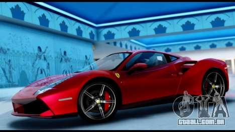 Ferrari 488 GTB 2016 para GTA San Andreas traseira esquerda vista