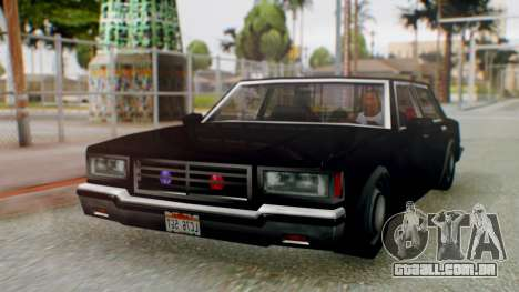 Unmarked Police Cutscene Car Stance para GTA San Andreas