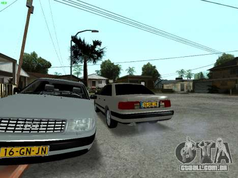 Audi 100 C4 1992 para GTA San Andreas vista inferior