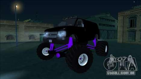 GTA 5 Vapid Speedo Monster Truck para vista lateral GTA San Andreas