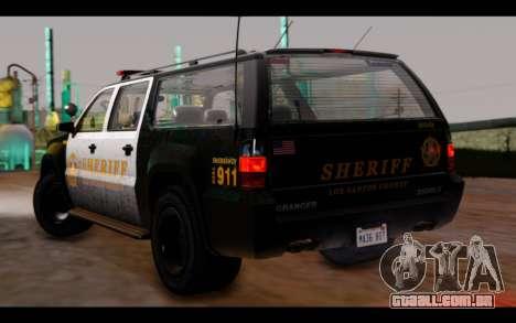 GTA 5 Declasse Sheriff Granger IVF para GTA San Andreas esquerda vista
