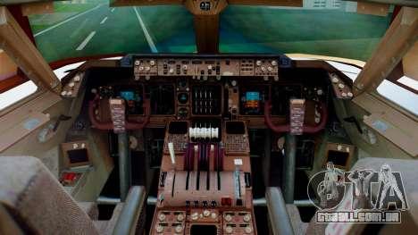 Boeing 747-400 Prototype (N401PW) para GTA San Andreas vista traseira
