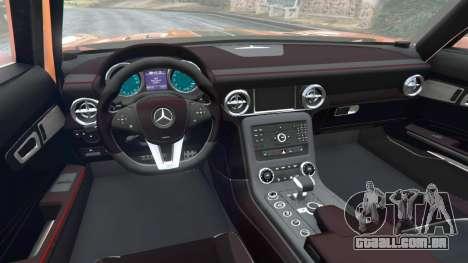 GTA 5 Mercedes-Benz SLS AMG GT3 traseira direita vista lateral