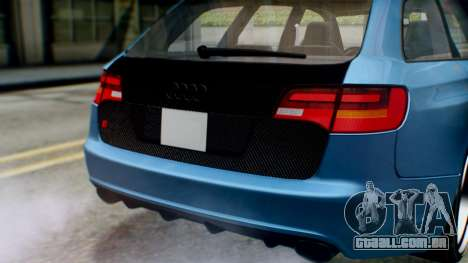 Audi RS6 Avant 2009 para GTA San Andreas vista interior