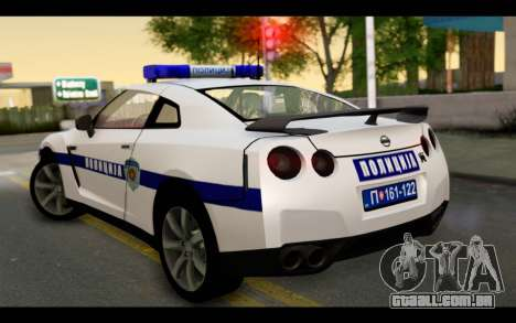 Nissan GT-R Policija para GTA San Andreas esquerda vista